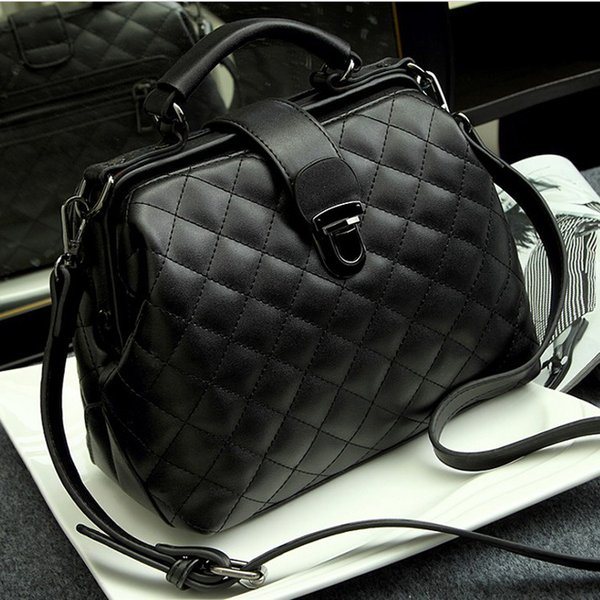 Bag Female 2019 New Style Korean-Style Quilted Shoulder Bag Fashion Lock Pu Doctor's Cross-Body Hand Bags & Shoes Wholesale