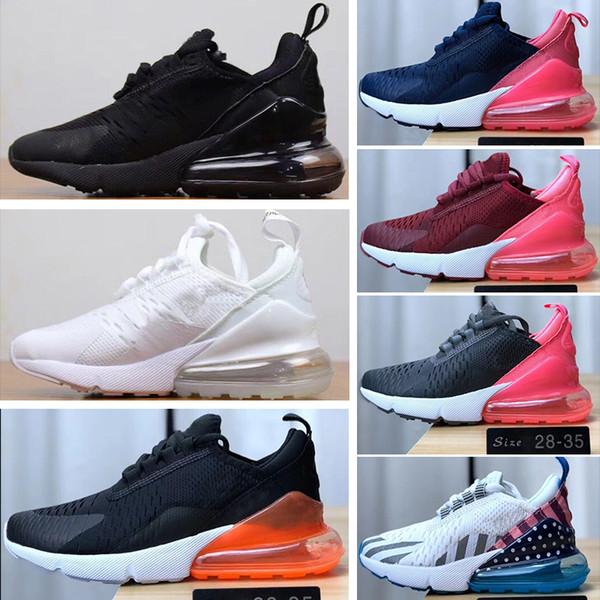 Acheter Nike Air Max 270 Enfants Loisirs Chaussures Top Qualité Enfants Garçon Filles Bébé Rose Blanc Noir Baskets Tout Petits Cadeau D Anniversaire
