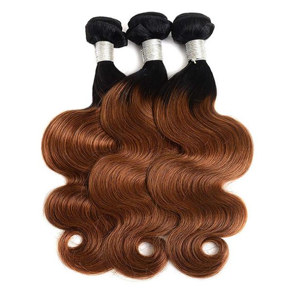 I capelli biondi vergini dei capelli umani dell'onda del corpo dei capelli umani dell'onda brasiliana dell'intensità del fascio impacchettano i capelli intrecciati 12-24 pollici Trasporto libero