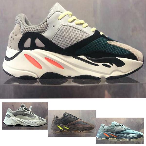 700 Runner 2019 Nuevo Kanye West Mauve Wave Hombres Mujeres Atlético Mejor calidad 700s Zapatillas deportivas para correr Zapatillas de diseñador con