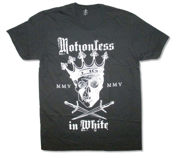Motionless In White-Crown Skull-3X Black T-shirt Men Women Unisex Fashion tshirt Free Shipping black