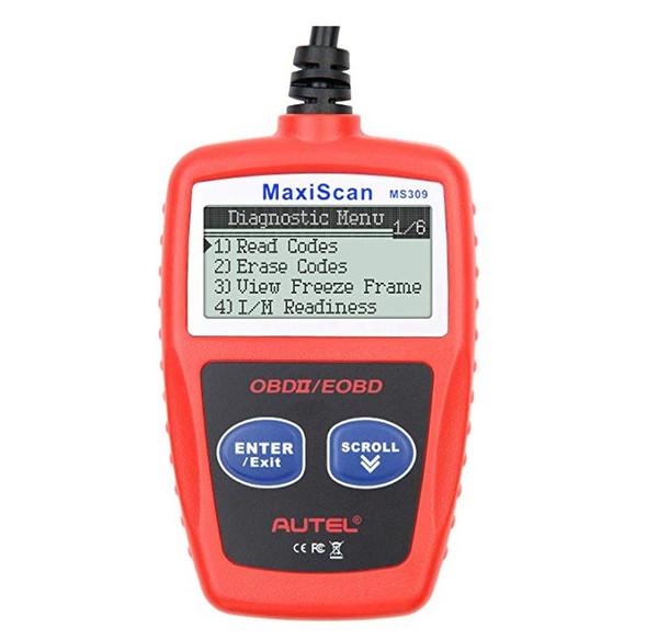 Autel MS309 Escáner OBD II universal mejorado clásico Lector de código de falla del motor del automóvil Herramienta de escaneo de diagnóstico CAN - Rojo