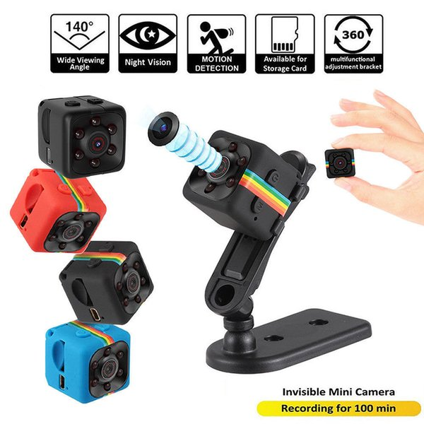 New HD-Mega Lens SQ11 DV HD 1080P Mini Camera 12MP Car DVR Motion Detection Multifunction Infrared Home Security Voice Video Recorder