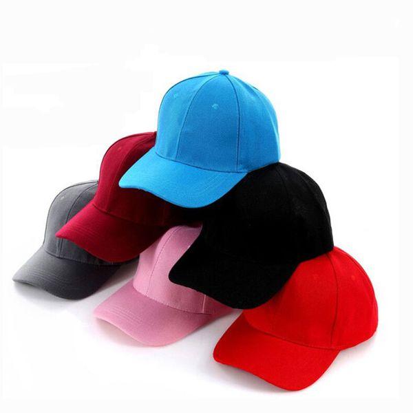 Katı Beyzbol Şapkası 19 Renkler Erkek Kız Moda Sıcak Ayarlanabilir Atkı Örgü Düz Üst Şapka Yüksek Kaliteli Hip-Hop Caps