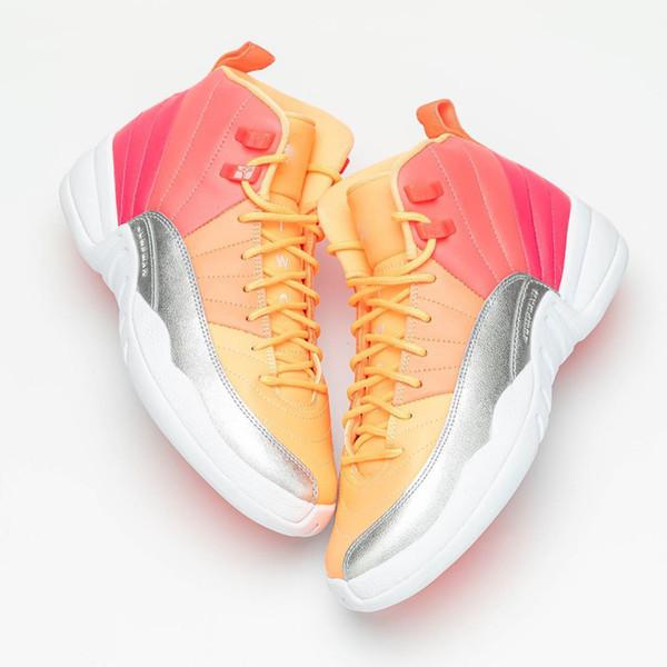 2019 Новый релиз Оригиналы воздуха 12 GS горячего пунша 510815-601 12s Real Carbon Fiber Баскетбольная обувь 013Jordan Аутентичные кроссовки