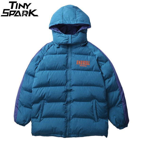 Men Winter Parkas Jackets Hip Hop Long Coat Oversized Hooded Windbreaker Streetwear 2018 Outwear Cotton Padded Jacket Thick Warm