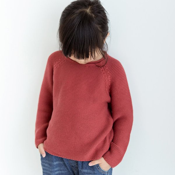 Children Sweaters Girls Sweater Solid Color Sweater for Boys Autumn Winter Knitwear Pullover Casual Kids Cardigan 0-7Y