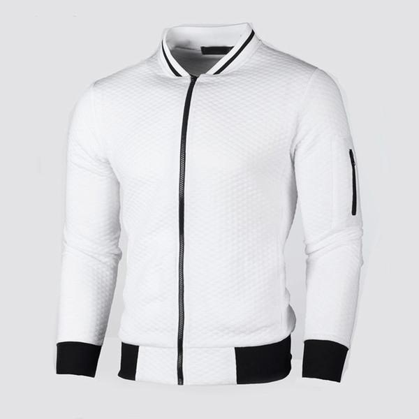 Мужское пальто мужская осень V шеи верхняя одежда мода зима с длинным рукавом пальто Slim Fit толстовка свитер на молнии
