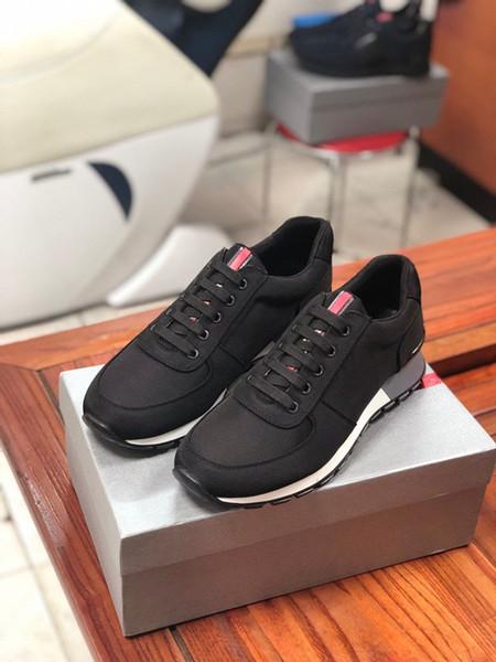 2019 designer de moda tênis de luxo homens triplo branco preto rosa Plataforma de couro sapato casual altura aumentando tamanho 38-46 xg19072901