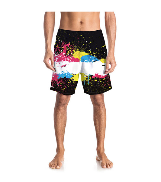 3D Print Quick Drying Designer Mens Beach Shorts Summer Loose Knee Length Mens Short Pants Male Apparel