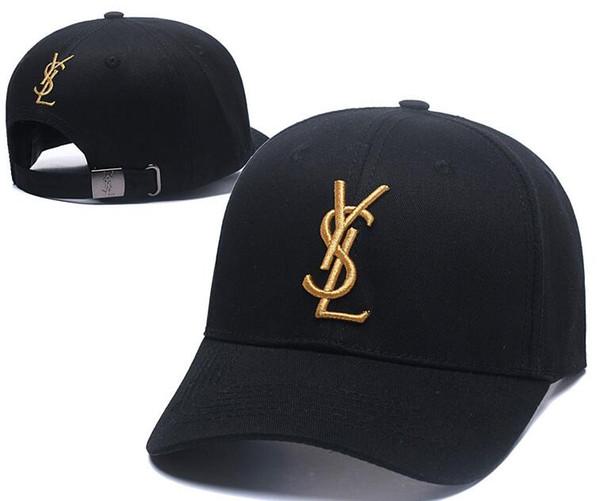 2019 бейсбольная кепка france springsummer мужчины женщины открытый дизайнерские шляпы Y SL письмо регулируемая шляпа хип-хоп новый грузовик кепка гольф кепка черный белый