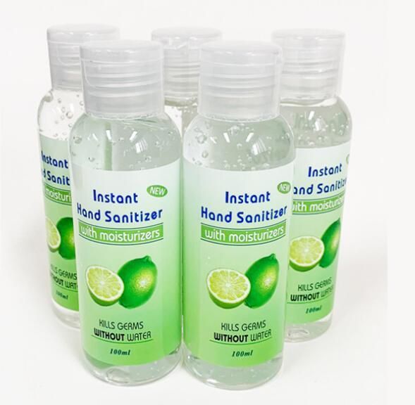 best selling In Stock! Hand Sanitizer 100ML Disposable Gel Hand Sanitizer with Fragrance Portable Instant Wash Free Hand Soaps GGA3271