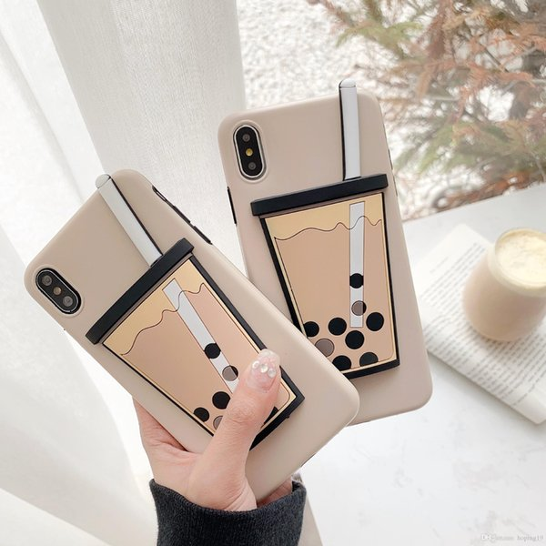 Amazing Soft TPU phone Case For iPhone X 6 6S 7 8 Plus Pearl Milk Tea SHELL for iphone xs max cover