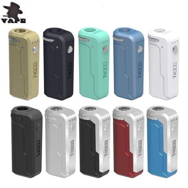 100% autentico Yocan UNI Box Mod 650mAh preriscaldamento batteria VV per cartuccia filo olio 510 spessa sigaretta elettronica Vape Mod DHL gratuito