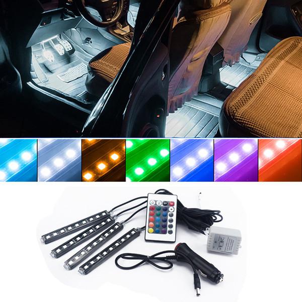 RGB LED Strip Light Car Interior Decorative Atmosphere Lamps For BMW M3 Honda Accord Audi A4 Volkswagen Golf 4 5 Chevrolet Cruze