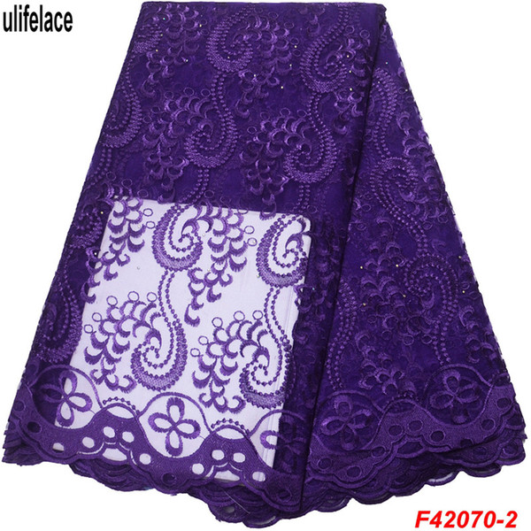 African lace fabric 2019 high quality Cheap price french lace fabric Embroidery Tulle Lace Fabric For Women Wedding dress F4-2070