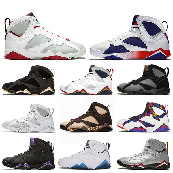 Jumpman Top Quality Mens 7 7s Basketball Shoes Patta Raptors Olympic GMP French Blue Ray Allen Tinker Alternate Hare Mens Trainers Sneakers