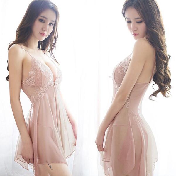 La biancheria sexy delle donne calde di commercio estero l'Europa e l'America trasparenti del vestito di notte del fuoco di notte del vestito dell'abito di America insieme sexy della biancheria