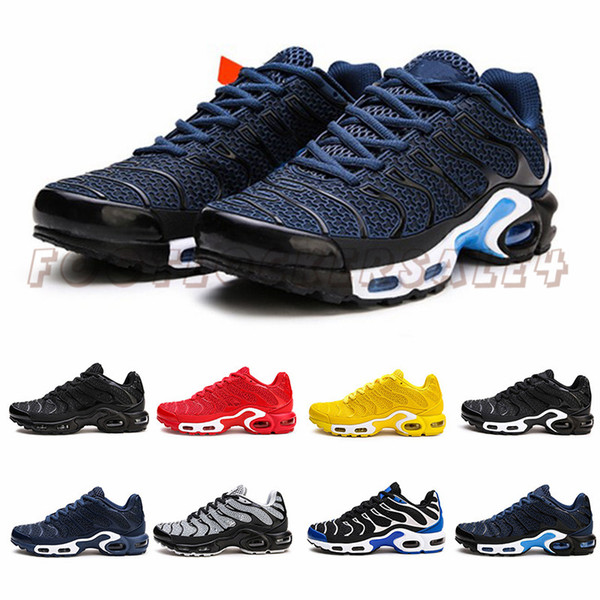 2019 TN Mens Shoes Size 13 Plus Running Shoes Utility KPU Blue Yellow Red Black Mens Trainers Man Designer Sports Male Sneakers 40-47
