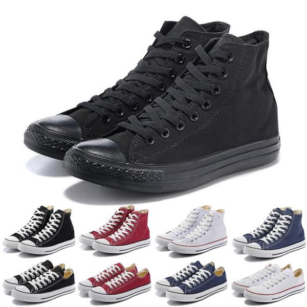 2020 Tuval ayakkabı 1970 ayakkabı tasarımcısı erkekler kadınlar siyah beyaz turuncu lacivert kırmızı moda rahat kaykay ayakkabısını 36-45 mens