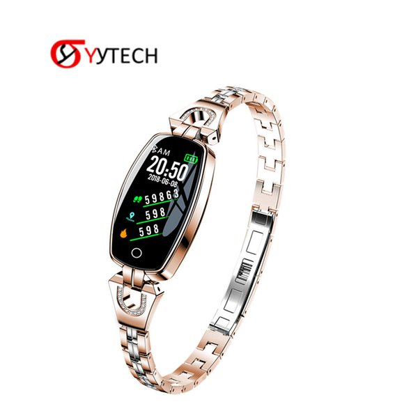 SYYTECH H8 Women Fashion Smart Bracelet Watch Blood Pressure Heart Rate Monitor APP connect Android IOS
