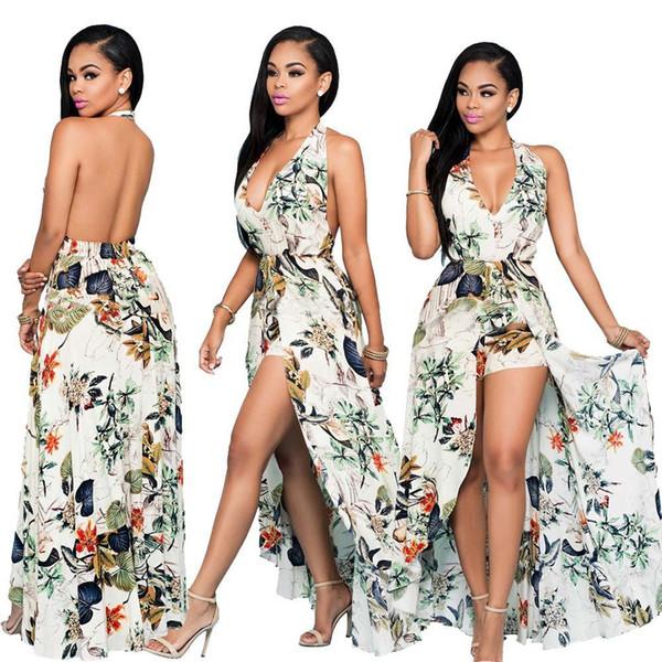 2019 Summer Dress For Women Bohemian Style Women Maxi Prom Party Dresses  Evening Chiffon Women Clothing Vintage Long Summer Dress Plus Size Pink ...