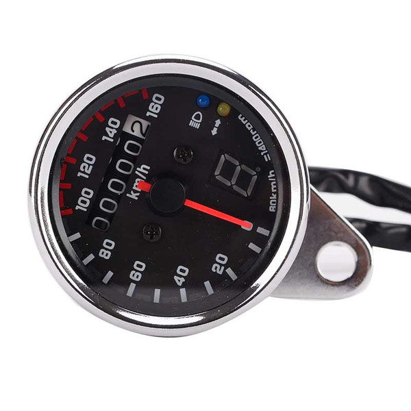 60MM Motorcycle Modified Odometer Retro Odometer Motorcycle Instrument With File Display