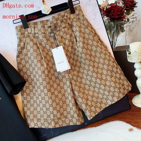 Marca ropa de mujer vestidos de verano para mujer pantalones cortos de jacquard pantalones cortos de cintura logotipo de bordado Moda versátil Ropa de mujer DK-8