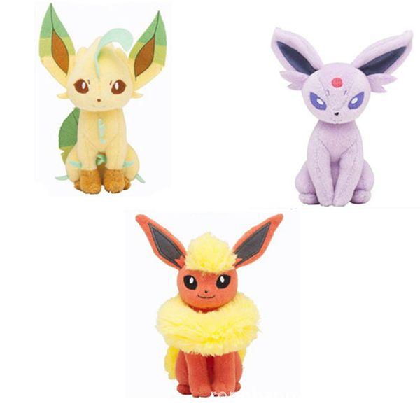 20pcs 30cm Center Plush toys Pikachu dolls Jolteon Umbreon Flareon Eevee Espeon Vaporeon Kids Children Toy gifts 9 styles in stock