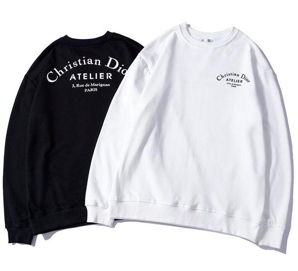 2019 новый мужской женский пуловер с капюшоном ди письмо логотип печать хлопка с капюшоном или пуловер осень зима кофты M-XXL