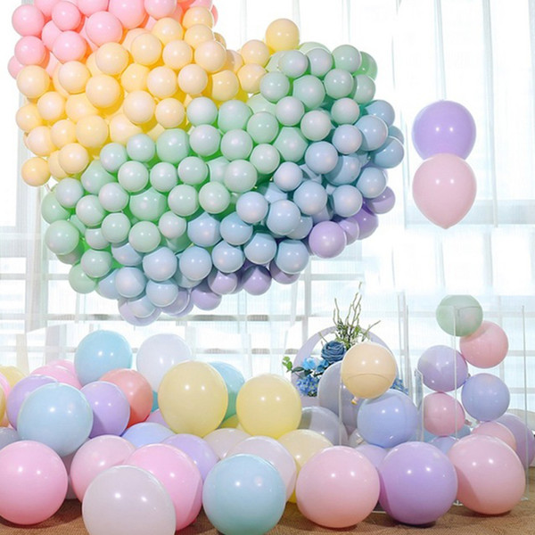 graduation 2019 10 inch macaroon color latex balloons blue/pink birthday party decorations kids/adult wedding/birthday balloons princess