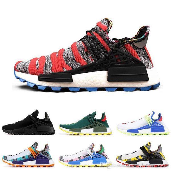 super popular cc5b5 28472 2019 Cheap Human Race Hu Trail X Pharrell Williams Nerd Men Running Shoes  Black White Cream Solar Pack Mens Trainers For Women Sports Sneaker From ...