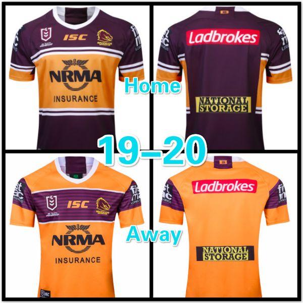215a7e06844 19-20 Rugby League NRL Brisbane Broncos 2019 home jersey Brisbane Broncos  2019 away jersey