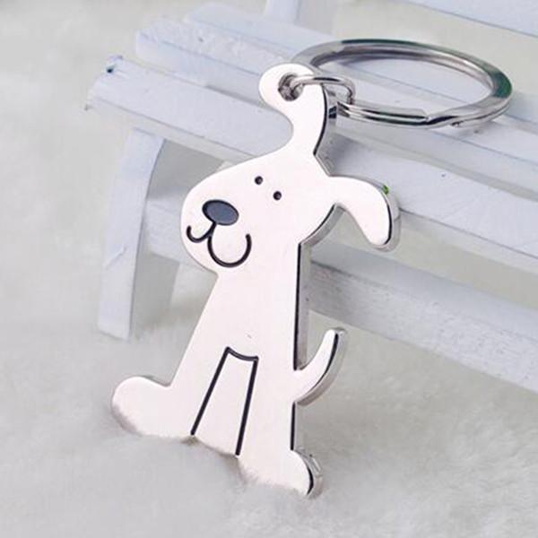 Metal Sevimli Köpek Anahtarlık Hayvan Anahtarlık Gümüş Kişiselleştirilmiş Tutucu Kolye Komik Karikatür Takı Aksesuarları Moda Zinciri
