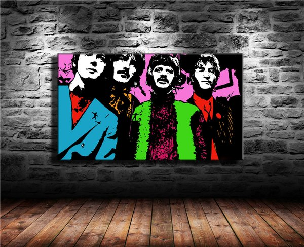 Psychodelic Beatles Twitter Bands,1 Pieces Home Decor HD Printed Modern Art Painting on Canvas (Unframed/Framed) 16X28.