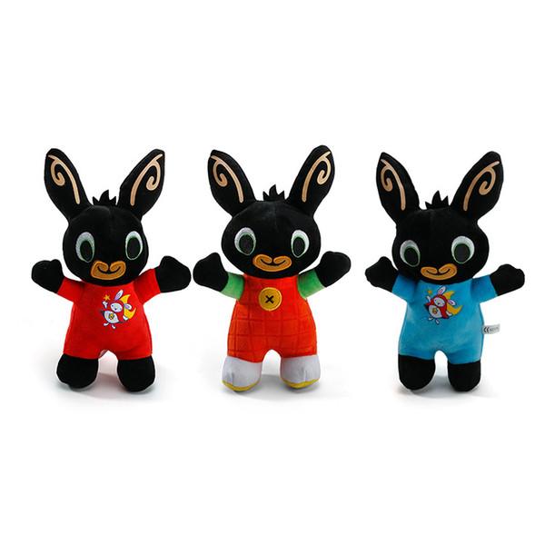 Bing Bunny juguete de peluche colgante Clip llavero Bing Bunny muñeca de juguete Hoppity Voosh peluche animal Pando conejo de juguete para regalos de Navidad DLH206