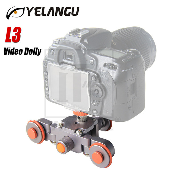 Freeshipping L3 intelligent Electric Video Dolly 3-Wheel Pulley Car Rail Rolling Track Slider Skater For DSLR Camera Camcorder Smart Phone