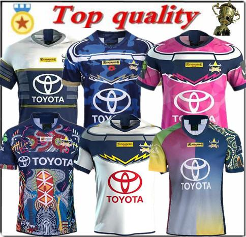 19 20 North Queensland Cowboys Rugby Maglie felpa North Queensland denim Rugby Maglie S-3XL