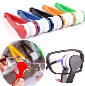 Mini Microfibre Glasses Cleaner Brush Microfibre Spectacles portable Sunglasses Eyeglass Cleaner lens Clean Wipe Tools Vision Care GGA1497