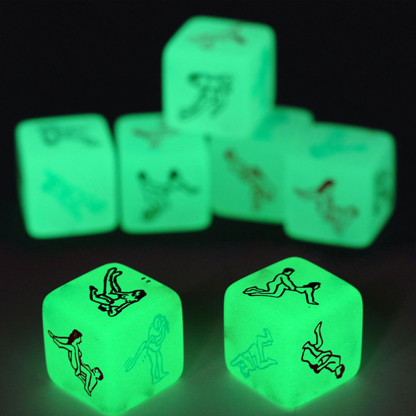 Grownups Toy Erotic Dice Game Toy Party Fun Adult Couple Glow in the Dark LuminousToys p# dropship Adult toy