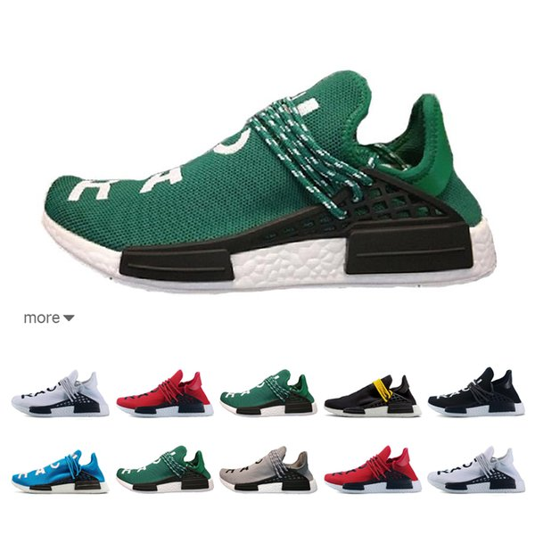 6f7b19148 2019 Human Race NMD Running Shoes Pharrell Williams Hu trail Oreo Nobel ink Black  Nerd Designer