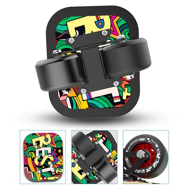 1 paio di skateboard board drift board per roller road drift plate antiscivolo skateboard sport acero pedale ruote in pu 4 stili