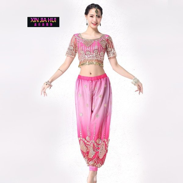 India Sari Oriental Clothing Adult Woman New Pattern Sexy Belly Dance Show Serve Suit Bellydance Costume Bollywood Carnaval