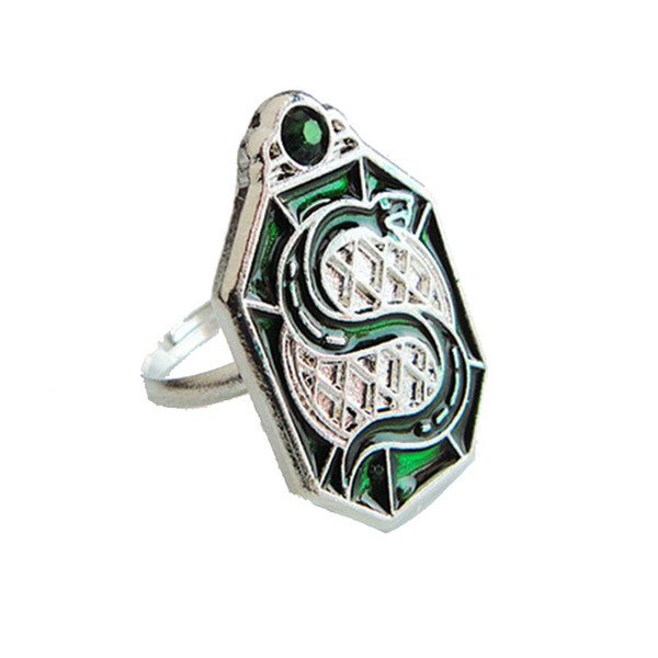 Harri Horcrux potter Slytherin College Treasures Horcrux Ring keyring men women fashion jewelry
