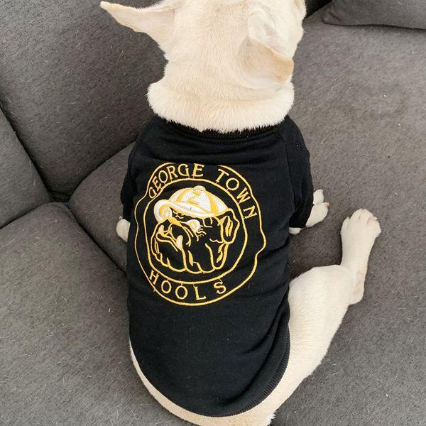 Dog Clothing Teddy Bichon Schnauzer Cat Cotton Dog Pattern T-Shirt Small Dog Pet Apparel Clothing 4 Color