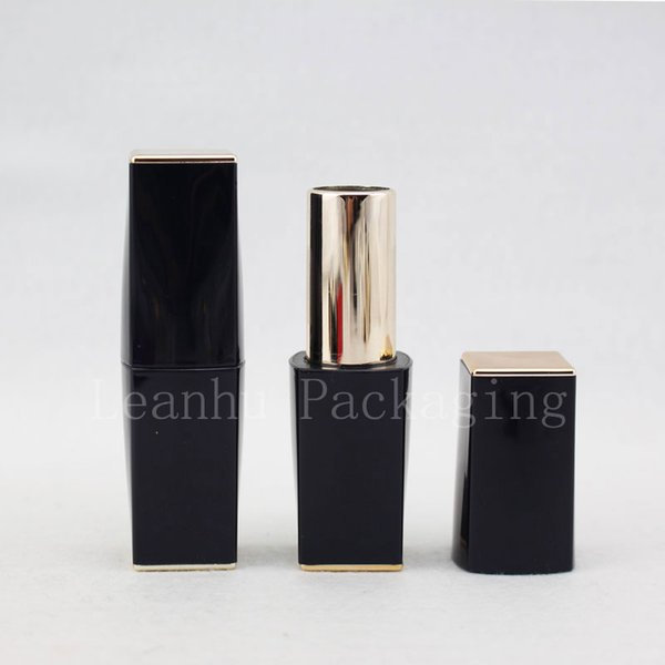 empty Dark Blue lip gloss containers with Magnet Cover, DIY lipstick cosmetic Tube, lip balm tube containers, lip stick tubes