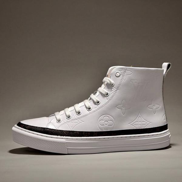 Bırak Gemi Stellar Sneaker Boot Lüks Erkek Ayakkabı Rahat Moda Klasik Yüksek Kalite Günlük Ayakkabılar Dantel-up Artı boyutu Erkekler Ayakkabı Çizme
