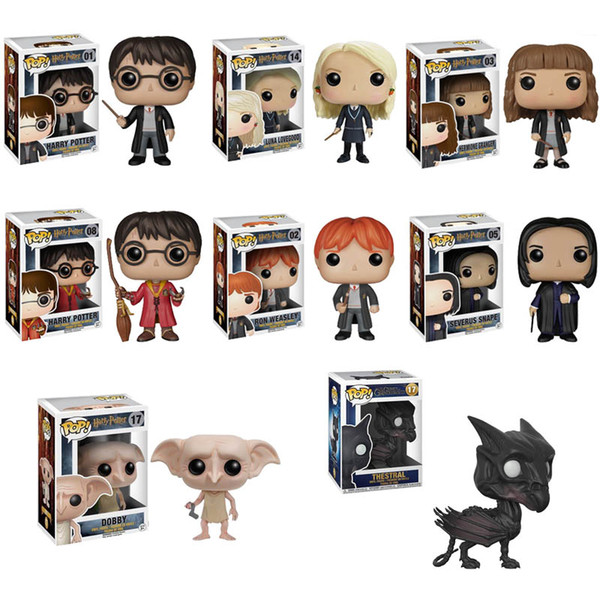 2019 Funko Pop Harry Potter Luna Hermione Dobby Snape Ron Thestral Pvc Doll Action Figure Collection Model Toys For Children Birthday Gift From