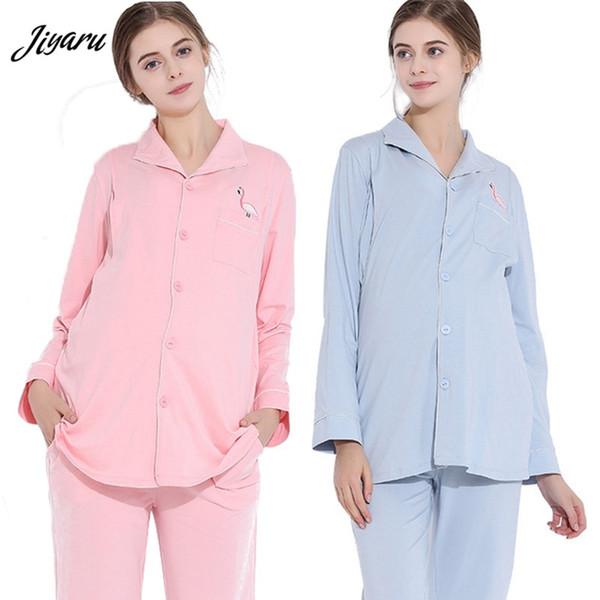 91a645dc0 Lactancia Invierno Lactancia Sueño Salón Ropa Pijamas de enfermería Ropa  embarazada Pijama embarazada Gravedad Pijamas conjunto