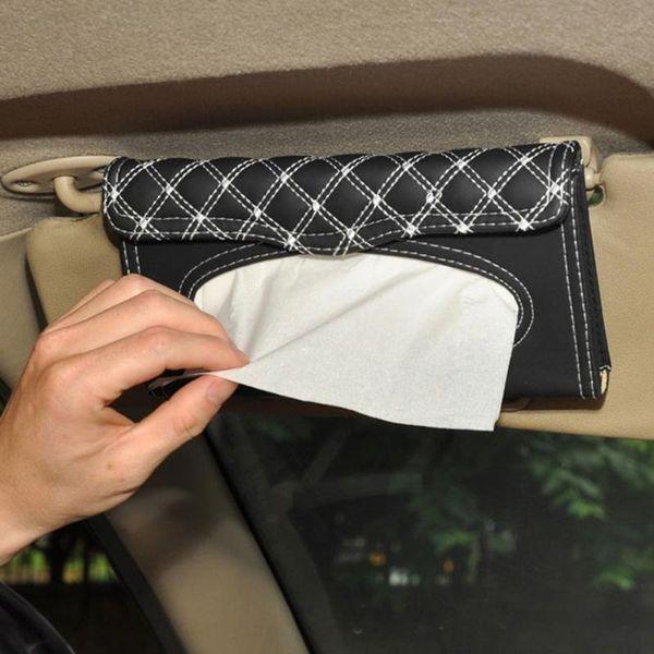 Car Visor Tissue Box Car Accessories Clipboard Tissue Boxes Napkin Holder Auto Parts